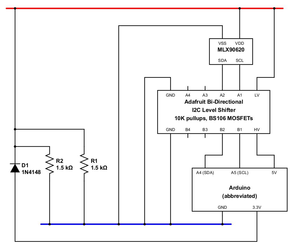 Ash Tyndall January Progress Update Level Shifter Circuit Figure 1 Mlx Arduino
